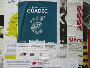 GUADEC 2016 poster in Karlsruhe