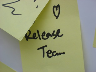 We love the Release Team postit