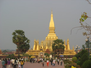 a temple in Vientiane
